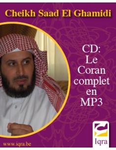 CD mp3 cheikh Al Ghamidi/coran complet