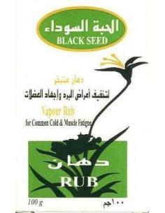 Pommade Vapour rubà base d'huile de cumin noir.