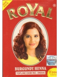 Henné bourgogne Royal - Burgundy henna herbal base powder hair dye