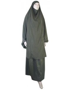 jilbab 2pcs jupe+cape