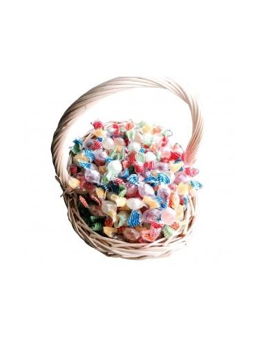 Bonbons fourrés fruités sans sucre. Convient aux diabétiques Sans colorants artificiels, Sans gélatine animale