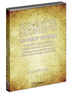 Le Saint Coran Complet Bilingue - 114 sourates - 2 CD MP3