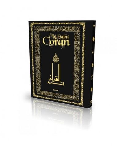Le Coran - Arabe et Français - Couverture Daim Souple Noir - Edition Sana