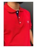 POLO Iceberg Coton Piqué 100% Coton - Polo Rouge - T-Shirt Oversize - Na3im